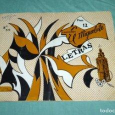 Coleccionismo de Revistas y Periódicos: LETRAS - EDICIONES EL MIGUELETE Nº 55... Lote 178250491