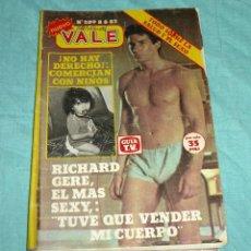Coleccionismo de Revistas y Periódicos: REVISTA NUEVO VALE Nº 209 RICHARD GERE CON POSTER JOHN TRAVOLTA.. Lote 178251145