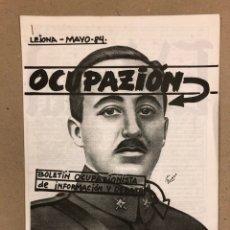 Coleccionismo de Revistas y Periódicos: OCUPACIÓN N° 0 (LEJONA 1984). FANZINE ORIGINAL OCUPACIONISTA DE INFORMACIÓN Y DEBATE.. Lote 178288717