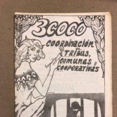 Coleccionismo de Revistas y Periódicos: 3COCO (BARCELONA 1975). HISTÓRICO FANZINE ORIGINAL; COORDINACIÓN DE TRIBUS URBANAS Y COOPERATIVAS:. Lote 178292941