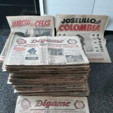 Coleccionismo de Revistas y Periódicos: EXTRAORDINARIO LOTE DE 78 REVISTAS DÍGAME. ROTATIVO GRÁFICO . MADRID - HUMOR - ESPECTÁCULOS AÑOS 50. Lote 178297336