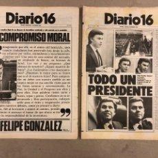 Coleccionismo de Revistas y Periódicos: INVESTIDURA FELIPE GONZÁLEZ. LOTE 2 PERIÓDICOS DIARIO 16 DEL 1 Y 2 DICIEMBRE DE 1982.. Lote 178306108