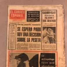 Coleccionismo de Revistas y Periódicos: EL CORREO ESPAÑOL, EL PUEBLO VASCO DEL 16 FEBRERO DE 1973. CASSIUS CLAY VS JOE BUGNER,.... Lote 178307267