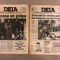 Coleccionismo de Revistas y Periódicos: GOLPE DE ESTADO DEL 23-F, TEJERO. LOTE 2 DIARIO DEIA DE LOS DÍAS 24 Y 25 FEBRERO DE 1981.. Lote 178307630