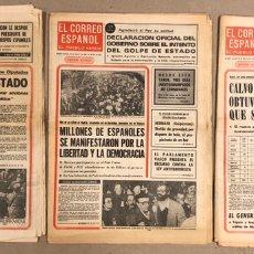 Coleccionismo de Revistas y Periódicos: GOLPE DE ESTADO DEL 23-F, TEJERO. LOTE 3 EL CORREO ESPAÑOL, EL PUEBLO VASCO DE LOS DÍAS 24, 26 Y 28. Lote 178307856