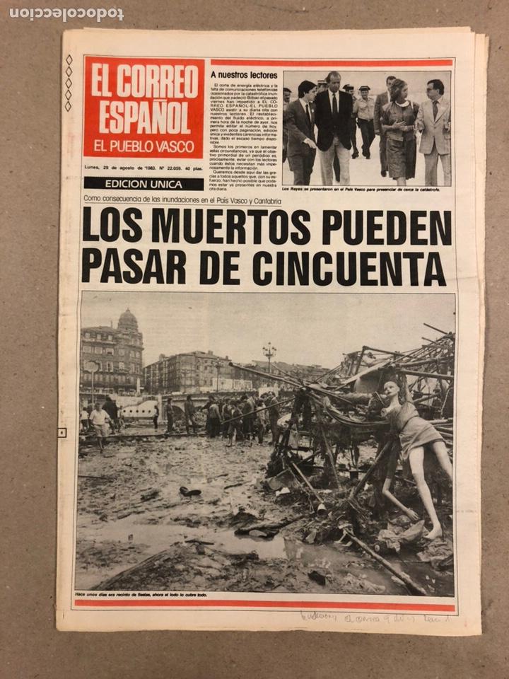 Coleccionismo de Revistas y Periódicos: INUNDACIONES DE BILBAO DE 1983. LOTE DE 1 PERIÓDICO EL CORREO ESPAÑOL Y 8 SUPLEMENTOS ESPECIAL INUND - Foto 2 - 178308452