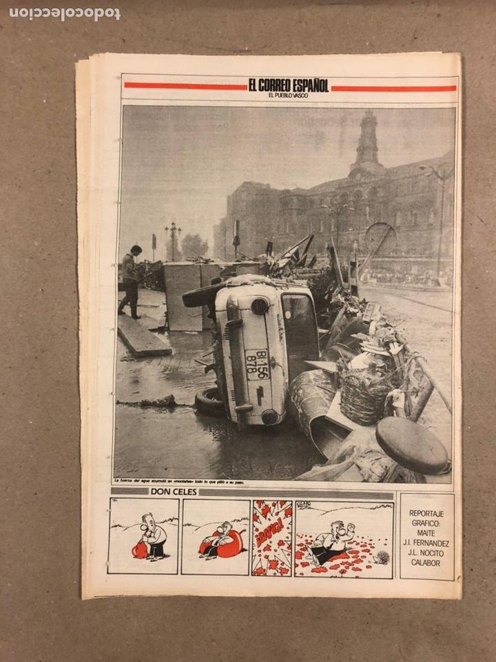 Coleccionismo de Revistas y Periódicos: INUNDACIONES DE BILBAO DE 1983. LOTE DE 1 PERIÓDICO EL CORREO ESPAÑOL Y 8 SUPLEMENTOS ESPECIAL INUND - Foto 3 - 178308452