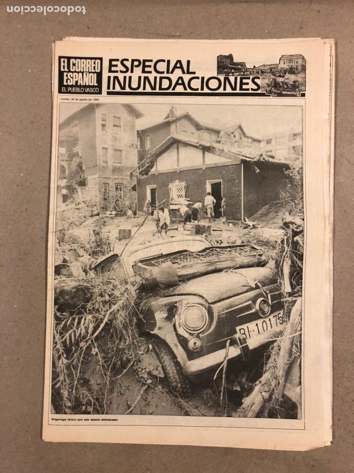 Coleccionismo de Revistas y Periódicos: INUNDACIONES DE BILBAO DE 1983. LOTE DE 1 PERIÓDICO EL CORREO ESPAÑOL Y 8 SUPLEMENTOS ESPECIAL INUND - Foto 4 - 178308452