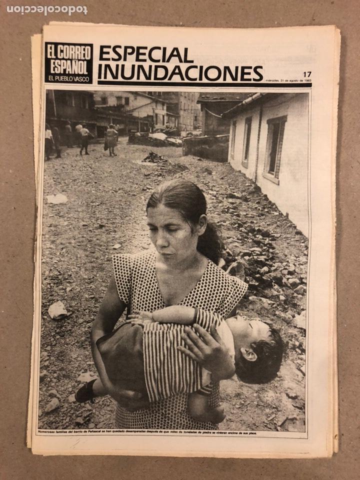 Coleccionismo de Revistas y Periódicos: INUNDACIONES DE BILBAO DE 1983. LOTE DE 1 PERIÓDICO EL CORREO ESPAÑOL Y 8 SUPLEMENTOS ESPECIAL INUND - Foto 5 - 178308452