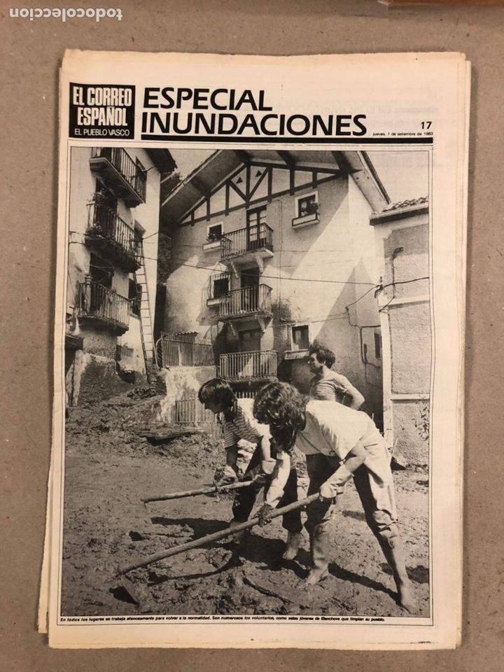 Coleccionismo de Revistas y Periódicos: INUNDACIONES DE BILBAO DE 1983. LOTE DE 1 PERIÓDICO EL CORREO ESPAÑOL Y 8 SUPLEMENTOS ESPECIAL INUND - Foto 6 - 178308452