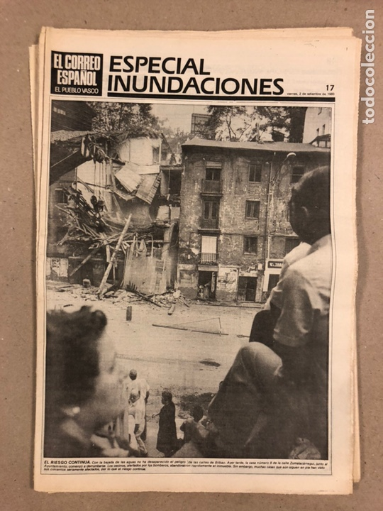 Coleccionismo de Revistas y Periódicos: INUNDACIONES DE BILBAO DE 1983. LOTE DE 1 PERIÓDICO EL CORREO ESPAÑOL Y 8 SUPLEMENTOS ESPECIAL INUND - Foto 7 - 178308452