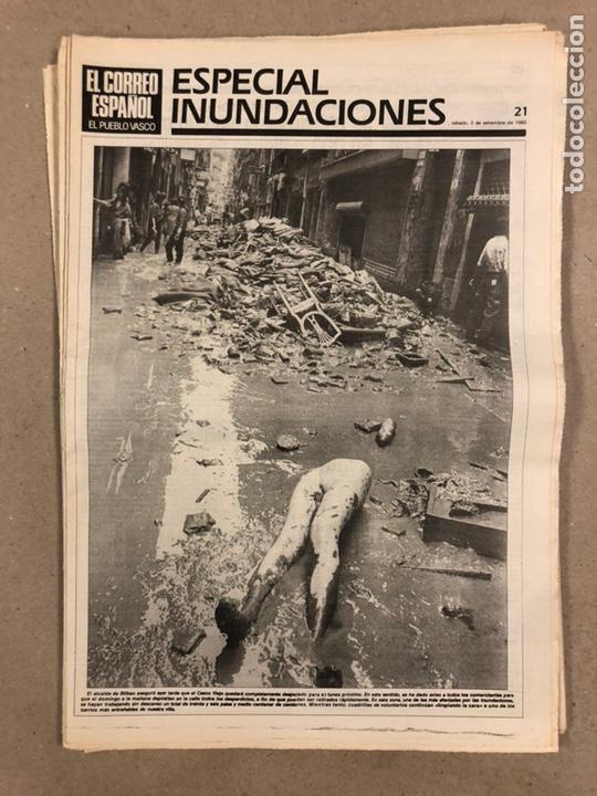 Coleccionismo de Revistas y Periódicos: INUNDACIONES DE BILBAO DE 1983. LOTE DE 1 PERIÓDICO EL CORREO ESPAÑOL Y 8 SUPLEMENTOS ESPECIAL INUND - Foto 8 - 178308452
