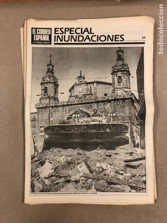 Coleccionismo de Revistas y Periódicos: INUNDACIONES DE BILBAO DE 1983. LOTE DE 1 PERIÓDICO EL CORREO ESPAÑOL Y 8 SUPLEMENTOS ESPECIAL INUND - Foto 9 - 178308452