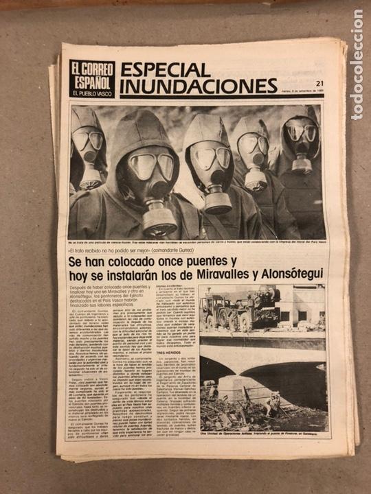 Coleccionismo de Revistas y Periódicos: INUNDACIONES DE BILBAO DE 1983. LOTE DE 1 PERIÓDICO EL CORREO ESPAÑOL Y 8 SUPLEMENTOS ESPECIAL INUND - Foto 10 - 178308452