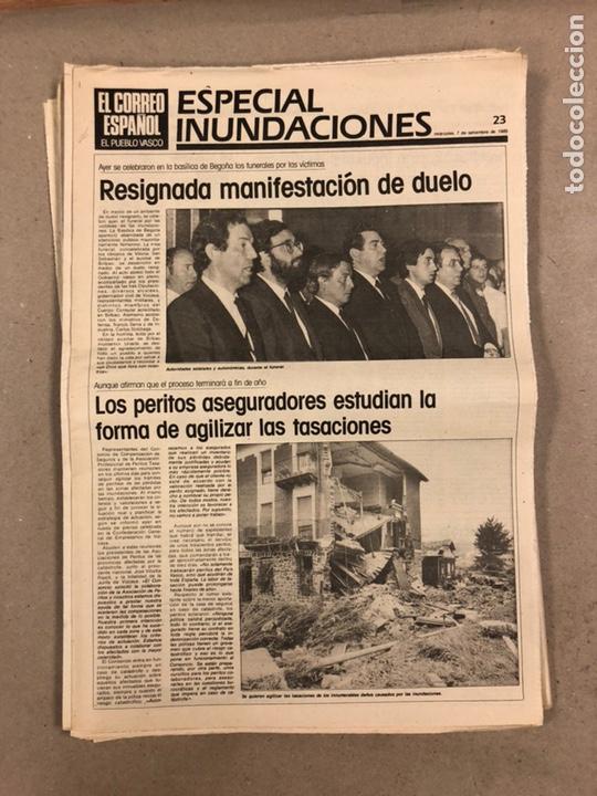 Coleccionismo de Revistas y Periódicos: INUNDACIONES DE BILBAO DE 1983. LOTE DE 1 PERIÓDICO EL CORREO ESPAÑOL Y 8 SUPLEMENTOS ESPECIAL INUND - Foto 11 - 178308452