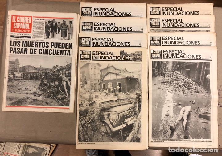 INUNDACIONES DE BILBAO DE 1983. LOTE DE 1 PERIÓDICO EL CORREO ESPAÑOL Y 8 SUPLEMENTOS ESPECIAL INUND (Coleccionismo - Revistas y Periódicos Modernos (a partir de 1.940) - Otros)