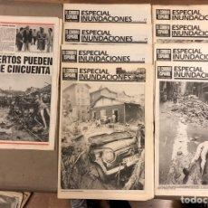 Coleccionismo de Revistas y Periódicos: INUNDACIONES DE BILBAO DE 1983. LOTE DE 1 PERIÓDICO EL CORREO ESPAÑOL Y 8 SUPLEMENTOS ESPECIAL INUND. Lote 178308452