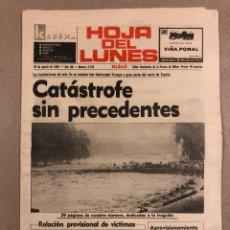 Coleccionismo de Revistas y Periódicos: INUNDACIONES DE BILBAO DE 1983. PERIÓDICO HOJA DEL LUNES DEL 29 DE AGOSTO DE 1983.. Lote 178308737