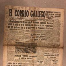 Coleccionismo de Revistas y Periódicos: EL CORREO GALLEGO. PERIÓDICO DECANO EN LA CORUÑA DEL 9 DE DICIEMBRE DE 1955. 6 PÁGINAS.. Lote 178308850