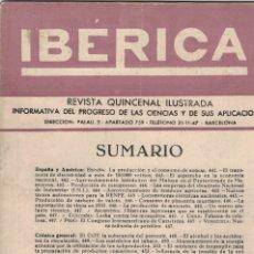 Coleccionismo de Revistas y Periódicos: REVISTA IBÉRICA AÑO 1952, NÚMERO 235. Lote 178335446
