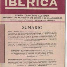 Coleccionismo de Revistas y Periódicos: REVISTA IBÉRICA AÑO 1952, NÚMERO 237. Lote 178335873
