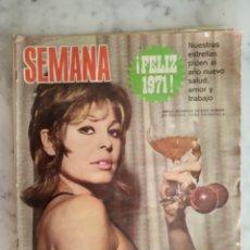 Coleccionismo de Revistas y Periódicos: REVISTA SEMANA - JULIO IGLESIAS - ANA BELEN - NURIA ESPERT - SYLVA KOSCINA - CATHERINE DENEUVE -. Lote 178339912