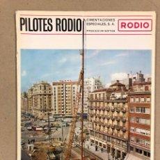 Coleccionismo de Revistas y Periódicos: PILOTES RODIO, PROCEDIMIENTOS. REVISTA PUBLICITARIA DE CIMENTACIONES ESPECIALES S.A. DE 1961.. Lote 178346340