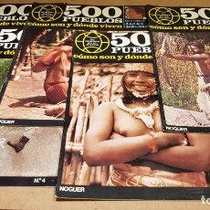 Coleccionismo de Revistas y Periódicos: 500 PUEBLOS / CÓMO SON Y DÓNDE VIVEN / DE LA QUADRA-SALCEDO / 5 PRIMEROS NÚMEROS. Lote 178366521