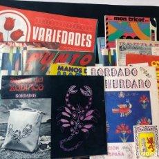 Coleccionismo de Revistas y Periódicos: 30 EJEMPLARES DIFERENTES AÑOS 70 - 80 / BORDADOS - REALCE - PUNTO - LAGARTERA / SIN USAR. Lote 178370311