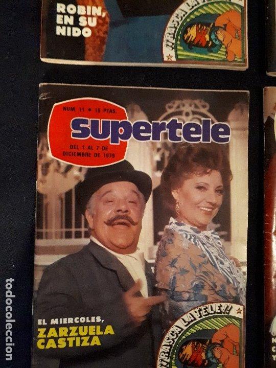 Coleccionismo de Revistas y Periódicos: LOTE 4 REVISTAS SUPERTELE - Foto 4 - 178379002