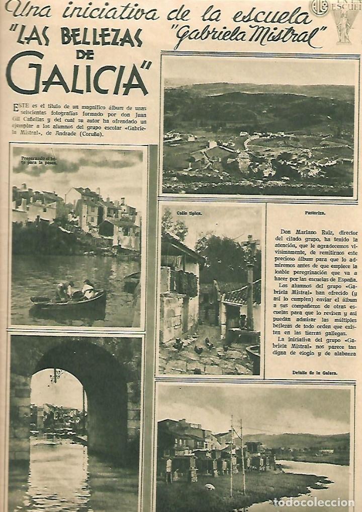 Coleccionismo de Revistas y Periódicos: AÑO 1936 LAS BELLEZAS DE GALICIA ESCUELA GABRIELA MISTRAL LEVANTE MOROS Y CRISTIANOS PUERTO MALAGA - Foto 2 - 10301270