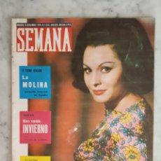 Colecionismo de Revistas e Jornais: REVISTA SEMANA - PAQUITA RICO - LA MOLINA - LUCERO TENA - RITA HAYWORTH -. Lote 178571492