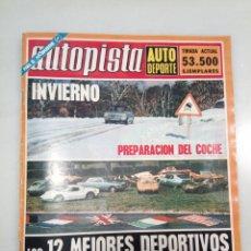 Coleccionismo de Revistas y Periódicos: REVISTA AUTOPISTA 1972.. Lote 178608202