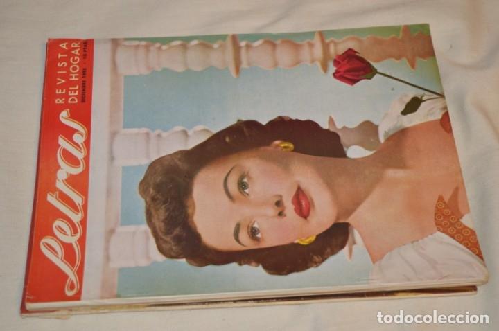 Coleccionismo de Revistas y Periódicos: Año 1952, lote de 4 revistas LETRAS, revista del hogar, SEPT/OCTUB/NOVIEN/DICIEN - ¡HAZ OFERTA! - Foto 2 - 178610942