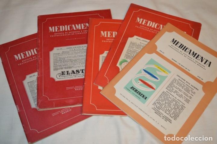 AÑOS 40/50, LOTE DE 5 REVISTAS MEDICAMENTA, PARA PROFESIONALES CIENCIA MÉDICA - ¡HAZ OFERTA! (Coleccionismo - Revistas y Periódicos Modernos (a partir de 1.940) - Otros)