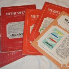 Coleccionismo de Revistas y Periódicos: AÑOS 40/50, LOTE DE 5 REVISTAS MEDICAMENTA, PARA PROFESIONALES CIENCIA MÉDICA - ¡HAZ OFERTA!. Lote 178613043