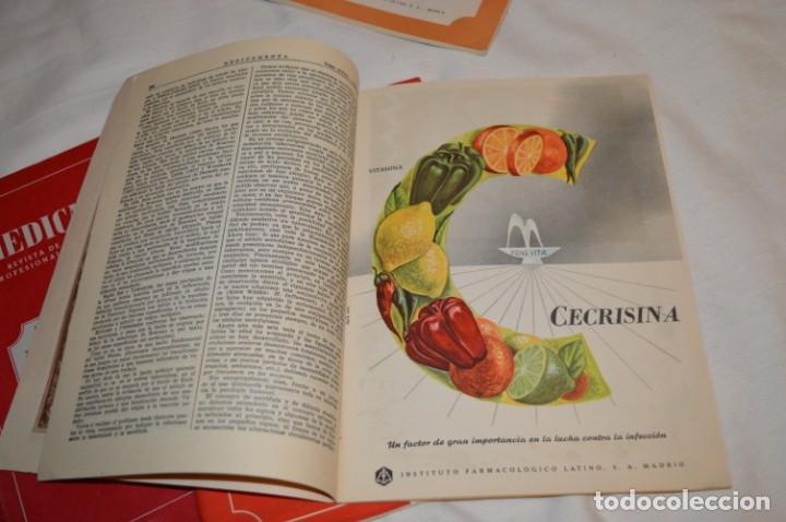 Coleccionismo de Revistas y Periódicos: Años 40/50, lote de 5 revistas MEDICAMENTA, para profesionales ciencia médica - ¡HAZ OFERTA! - Foto 4 - 178613043