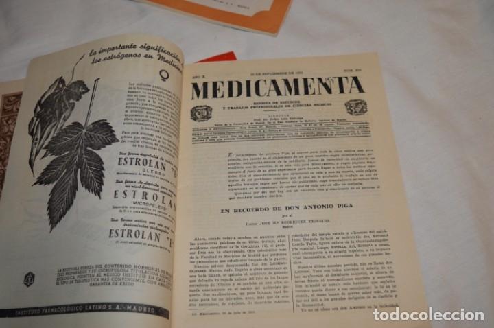 Coleccionismo de Revistas y Periódicos: Años 40/50, lote de 5 revistas MEDICAMENTA, para profesionales ciencia médica - ¡HAZ OFERTA! - Foto 5 - 178613043