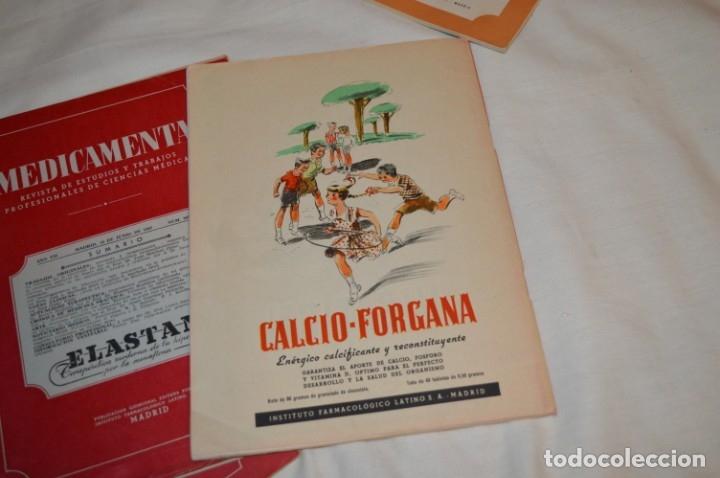 Coleccionismo de Revistas y Periódicos: Años 40/50, lote de 5 revistas MEDICAMENTA, para profesionales ciencia médica - ¡HAZ OFERTA! - Foto 6 - 178613043