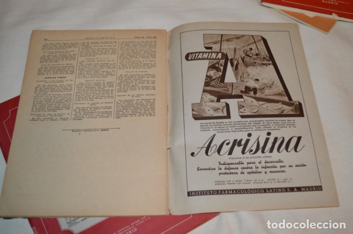Coleccionismo de Revistas y Periódicos: Años 40/50, lote de 5 revistas MEDICAMENTA, para profesionales ciencia médica - ¡HAZ OFERTA! - Foto 7 - 178613043