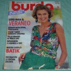 Coleccionismo de Revistas y Periódicos: REVISTA BURDA CON INSTRUCCIONES EN ESPAÑOL Y SUS PATRONES.JUNIO DE 1990.. Lote 178631071