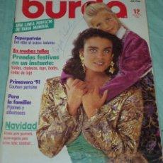 Coleccionismo de Revistas y Periódicos: REVISTA BURDA CON INSTRUCCIONES EN ESPAÑOL Y SUS PATRONES.DICIEMBRE DE 1990.. Lote 178631076