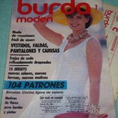 Coleccionismo de Revistas y Periódicos: REVISTA BURDA CON SUS PATRONES.JULIO 1986.. Lote 178631116