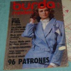 Coleccionismo de Revistas y Periódicos: REVISTA BURDA CON INSTRUCCIONES EN ESPAÑOL Y SUS PATRONES.ENERO 1986.. Lote 178631126