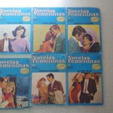 Coleccionismo de Revistas y Periódicos: 6 NOVELAS FEMENINAS CORIN TELLADO.BRUGERA.N 4.11.12.22.23 Y 33.AÑO 1964.VER FOTOS.. Lote 178650381
