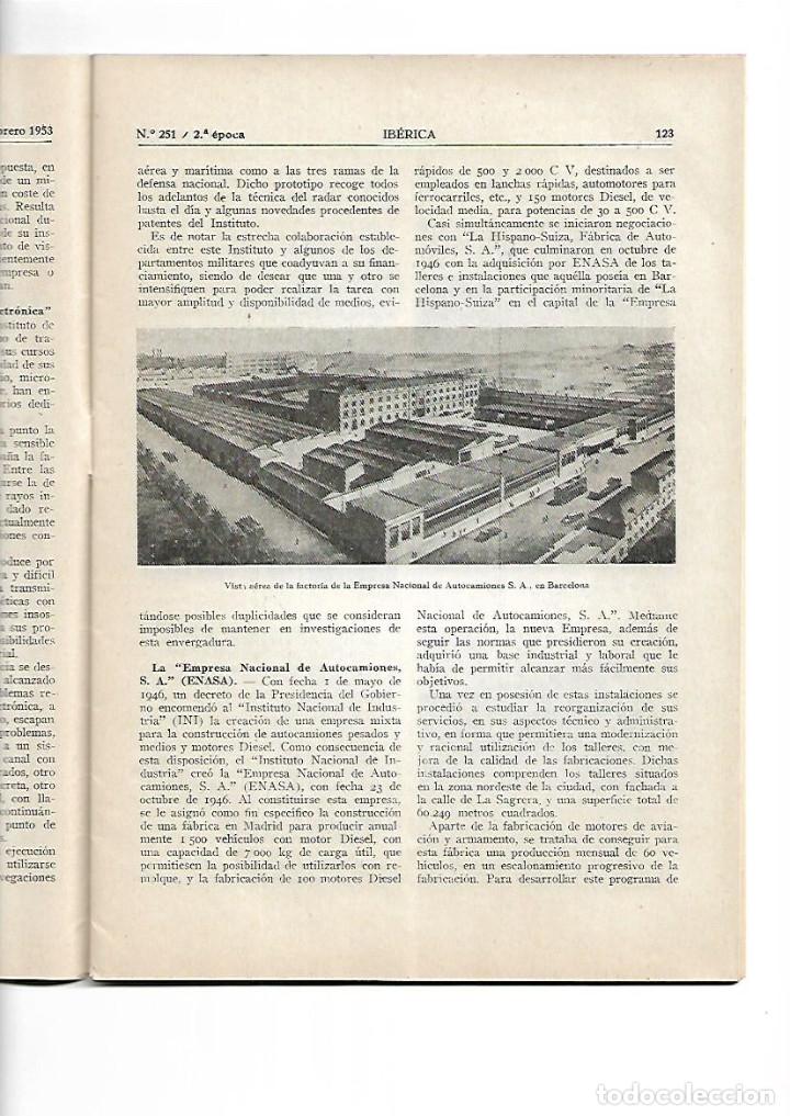 Coleccionismo de Revistas y Periódicos: AÑO1953 ENASA CAMIONES ZARAGOZA HUESCA PANTANO DE ARDISA LA SOTONERA CANAL DE VIOLADA CANAL MONEGROS - Foto 4 - 10336596