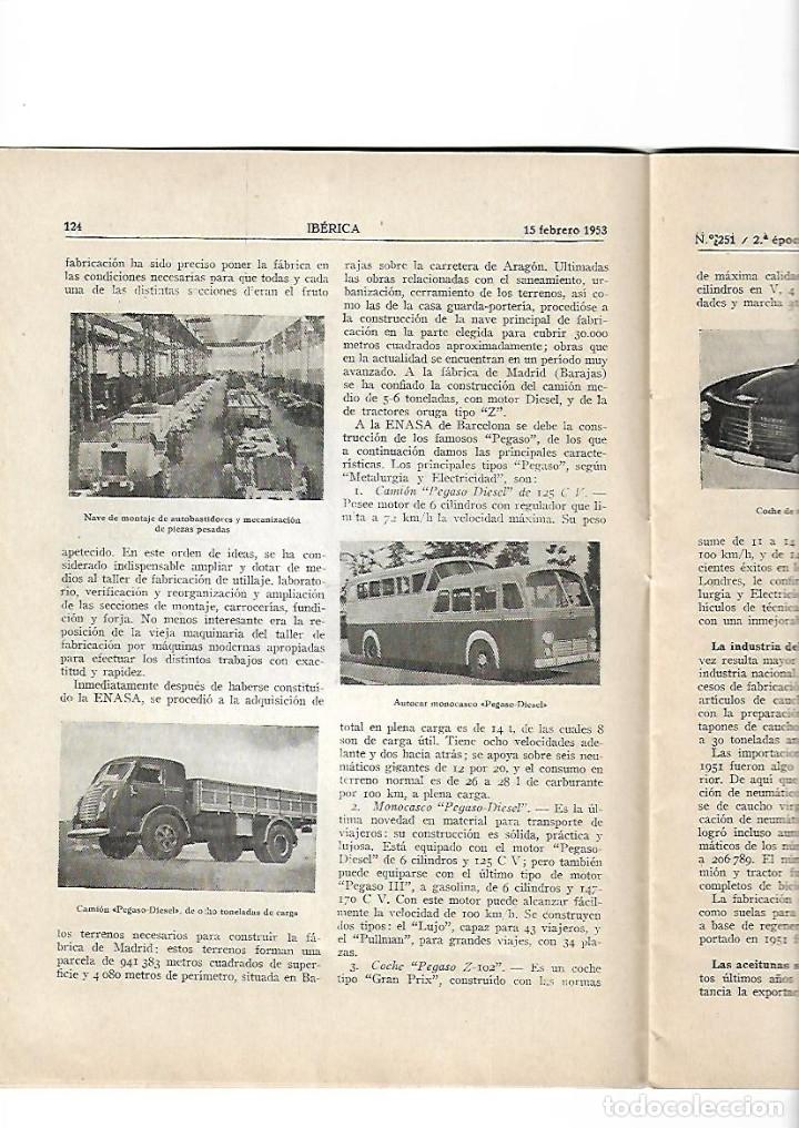 Coleccionismo de Revistas y Periódicos: AÑO1953 ENASA CAMIONES ZARAGOZA HUESCA PANTANO DE ARDISA LA SOTONERA CANAL DE VIOLADA CANAL MONEGROS - Foto 5 - 10336596