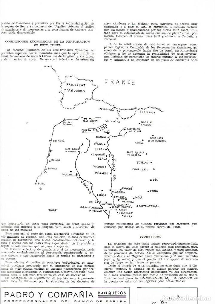 Coleccionismo de Revistas y Periódicos: AÑO 1958 MANRESA LA SEU PROYECTO TUNEL DEL CADI SEPULCRO ROMANO DE BOADES BAGES - Foto 3 - 10633464