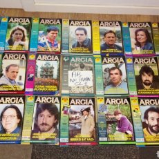 Coleccionismo de Revistas y Periódicos: LOTE 21 REVISTA ARGIA POLÍTICA POLÍTICO VASCO VASCA AÑOS 1995 - 1996. Lote 178907796