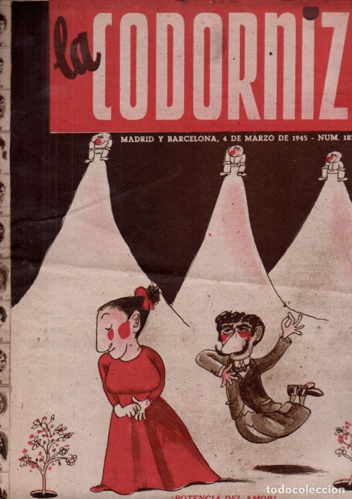 LA CODORNIZ Nº 187 - 4 III 1945 (Coleccionismo - Revistas y Periódicos Modernos (a partir de 1.940) - Otros)